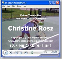 CLICK HERE To Watch Christine's Tennis Video!