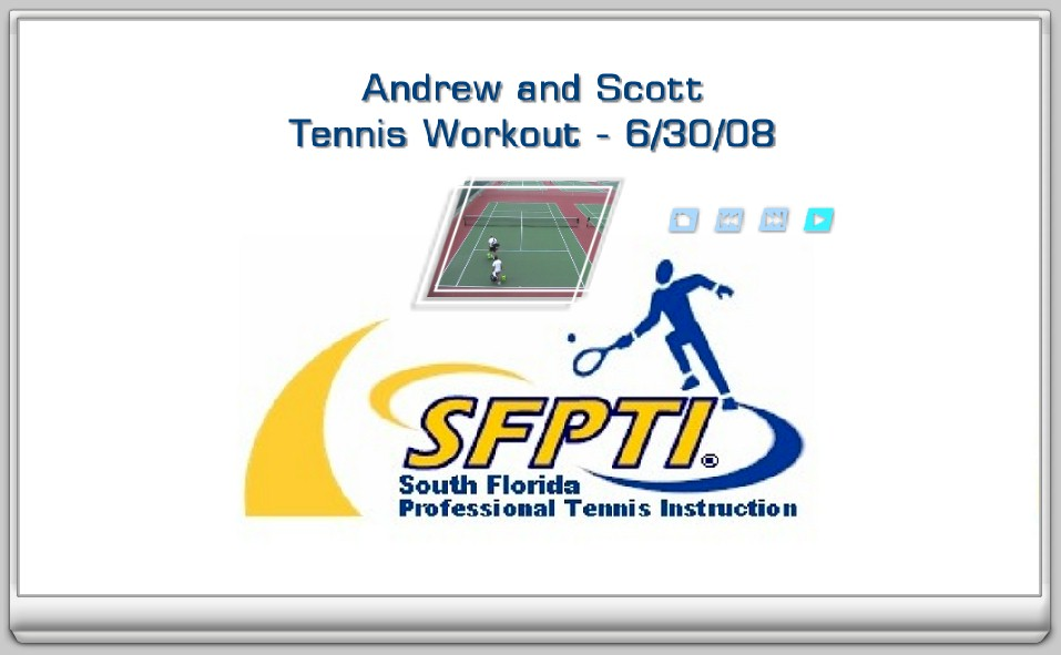 Sample Tennis Workout on DVD - CLICK HERE to watch a sample DVD video!