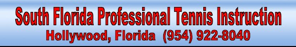South Florida Professional Tennis Instruction